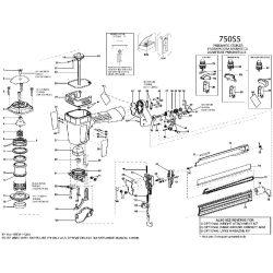 Bostitch 750S5 kapcsozó alkatrészei