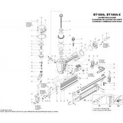Bostitch BT1855 szegező alkatrészei