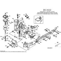 Bostitch DS3522 dobozlezáró alkatrészei