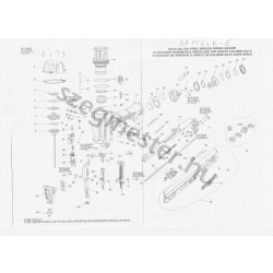 Bostitch DA1564K-E szegező alkatrészei