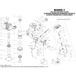 Bostitch N400 szegező alkatrészei