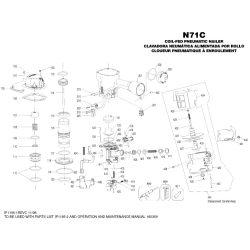 Bostitch N71 szegező alkatrészei