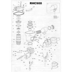 Atro RHC900 szegező alkatrészei