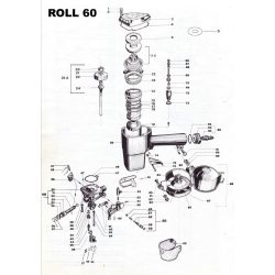 Atro Roll 60 szegező alkatrészei