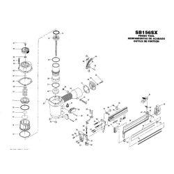 Bostitch SB156SX kapcsozó alkatrészei