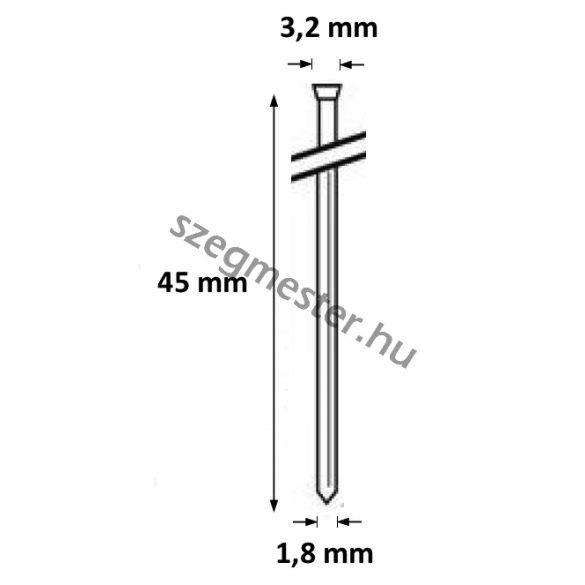 DA1545 Bognárszeg 1,8x45mm 34° (4000db)