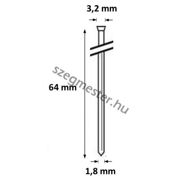 DA1564 Bognárszeg 1,8x64mm 34° (4000db)