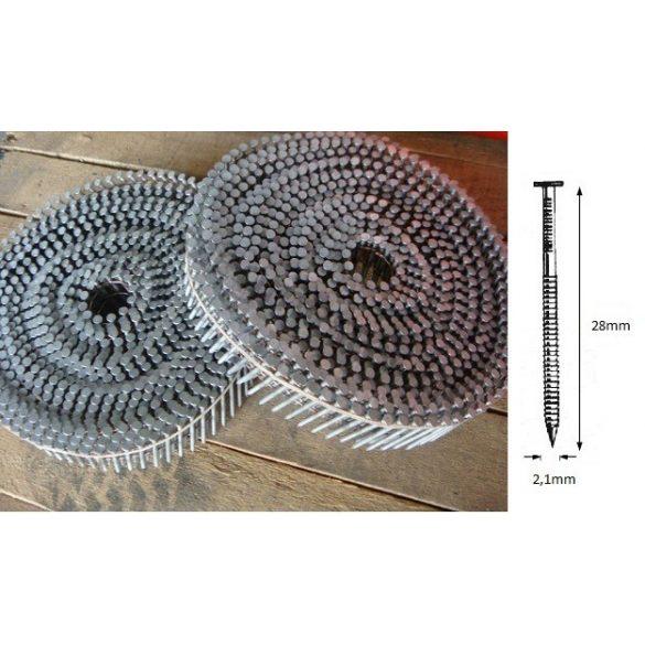 21/28 JR körtáras JUMBO gépi szeg - gyűrűs (26.400 db)