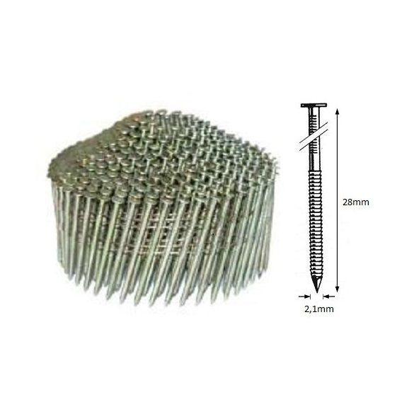 21/28 NR körtáras gépi szeg - gyűrűs, kúpos (14.700 db)