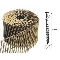 21/32 FR körtáras gépi szeg - gyűrűs, lapos (14.700 db)