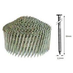 21/35 NR körtáras gépi szeg - gyűrűs, kúpos  (12.600 db)