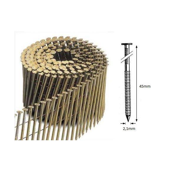 21/45 FR körtáras gépi szeg - gyűrűs, lapos (12.600 db)