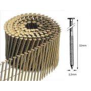 25/32 FR körtáras gépi szeg - gyűrűs, lapos (12.600 db)