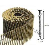 25/40 FR körtáras gépi szeg - gyűrűs, lapos (10.800 db)