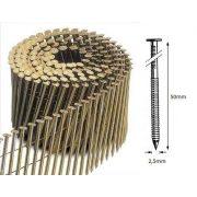 25/50 FR körtáras gépi szeg - gyűrűs, lapos (9000 db)