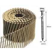 28/40 FR körtáras gépi szeg - EPAL, gyűrűs, lapos (9000 db)