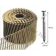 28/45 FR körtáras gépi szeg - gyűrűs, lapos (9000 db)