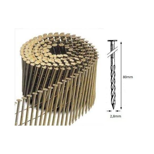 28/80 FS körtáras gépi szeg - csavart, lapos (4500 db)