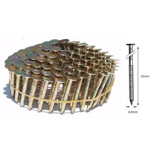 3,0/22mm GYŰRŰS körtáras zsindely szeg (7200 db)