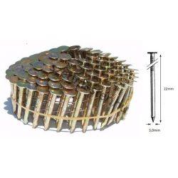 3,0/22mm körtáras zsindely szeg (7200 db)