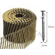 34/120 FR körtáras gépi szeg - gyűrűs, lapos (1800 db)