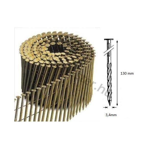 34/130 FS körtáras gépi szeg - csavart, lapos (1800 db)