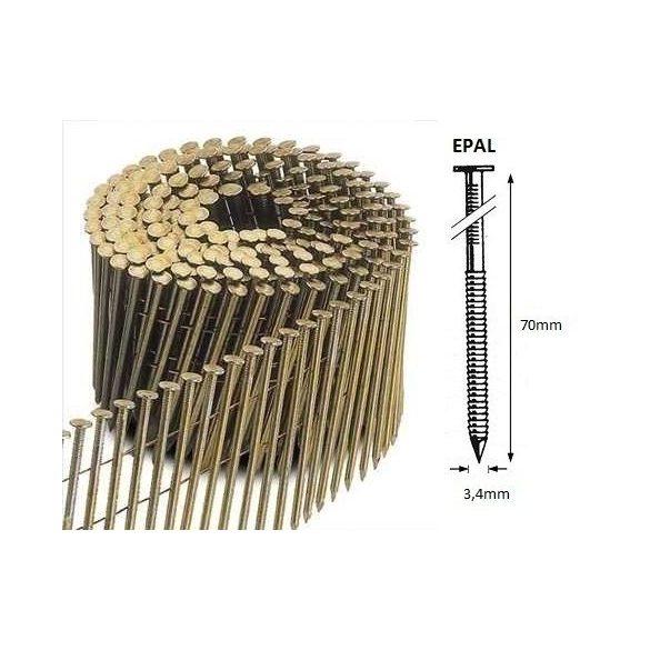 34/70 FR körtáras gépi szeg - EPAL, gyűrűs, lapos (4200 db)