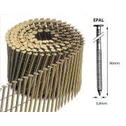 34/90 FR körtáras gépi szeg - EPAL, gyűrűs, lapos (3150 db)