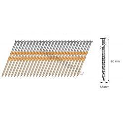 28/60 síktáras csavart gépi szeg 21° (4800 db)