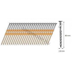 28/80 síktáras csavart gépi szeg 21° (3600 db)