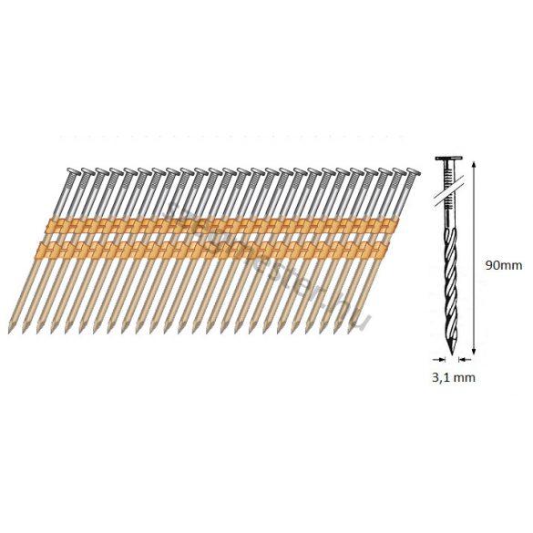 31/90 síktáras csavart gépi szeg 21° (3000 db)