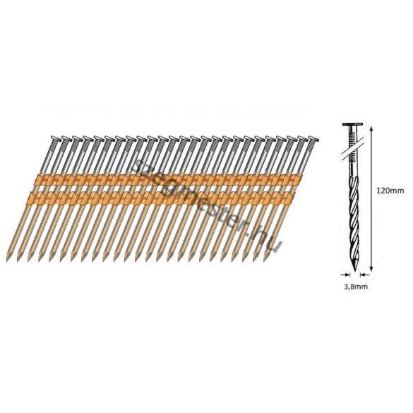 38/120 síktáras csavart gépi szeg 21° (1500 db)