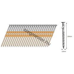 38/130 síktáras csavart gépi szeg 21° (1288 db)