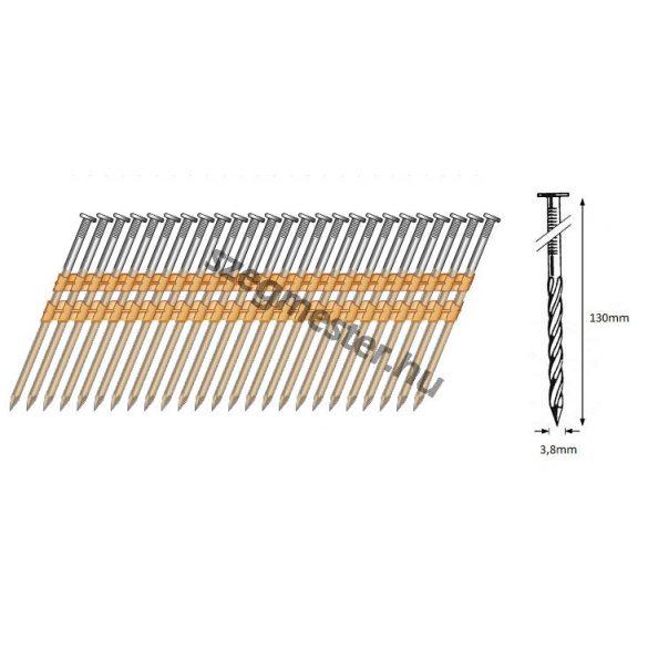 38/130 síktáras csavart gépi szeg 21° (1500 db)