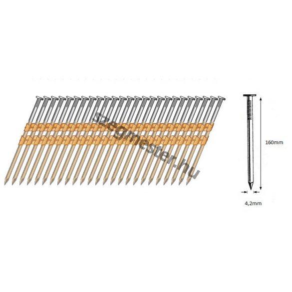 42/160 síktáras sima gépi szeg 21° (1000 db)