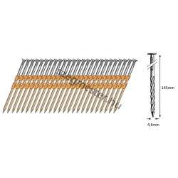 46/145 síktáras csavart gépi szeg 21° (660 db)