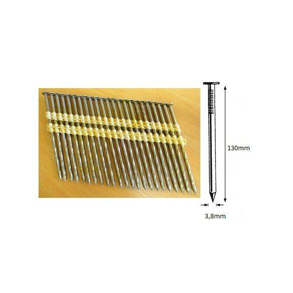 38/130 síktáras csavart gépi szeg 28° (1288 db)