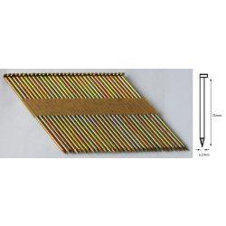 31/75 D síktáras sima gépi szeg (50°)