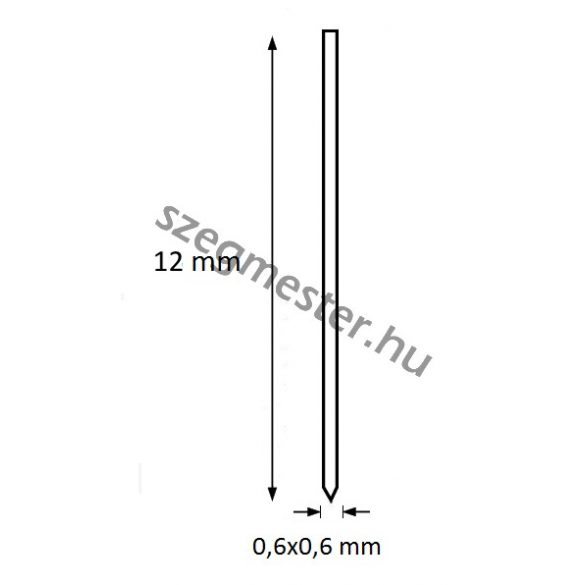 Mini-pin szeg 12mm OMER (20.000db)