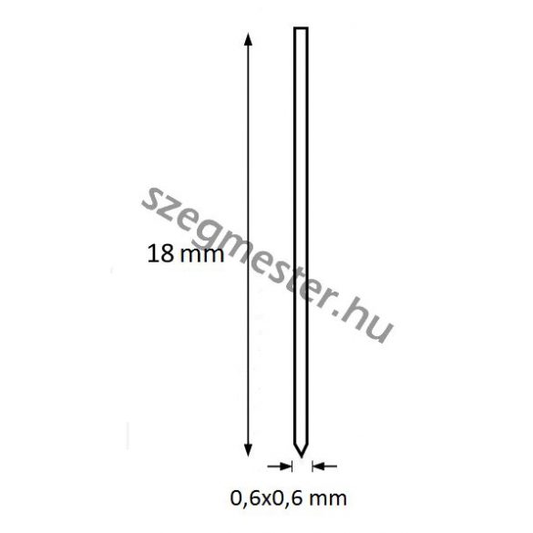 Mini-pin szeg 18mm BOSTITCH (20.000db)