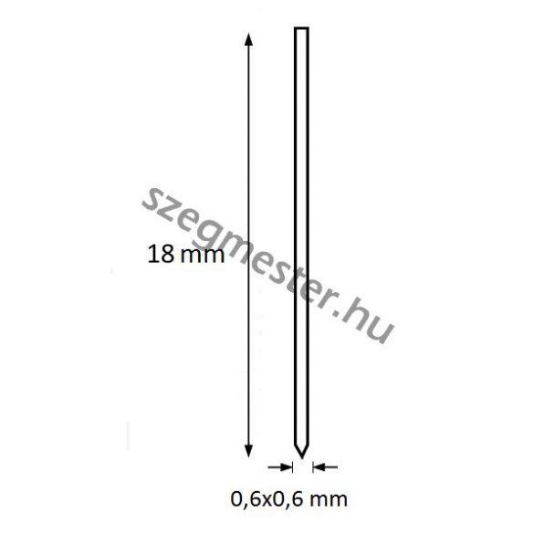 Mini-pin szeg 18mm OMER (20.000db)