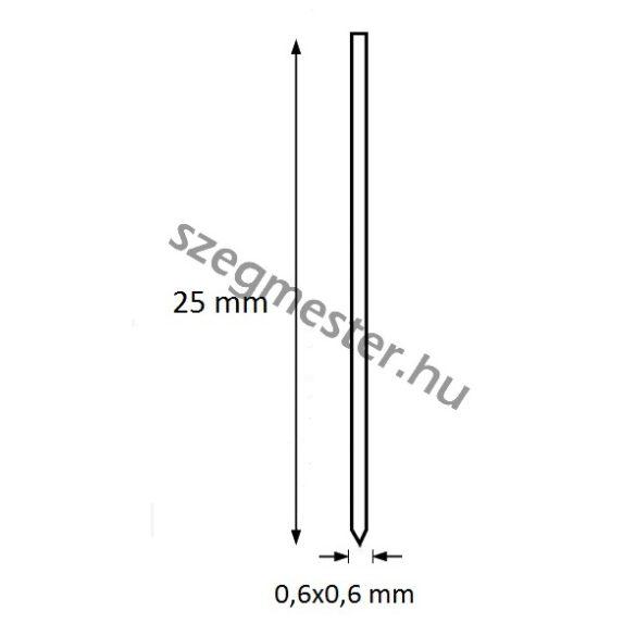 Mini-pin szeg 25mm BOSTITCH (10.000db)