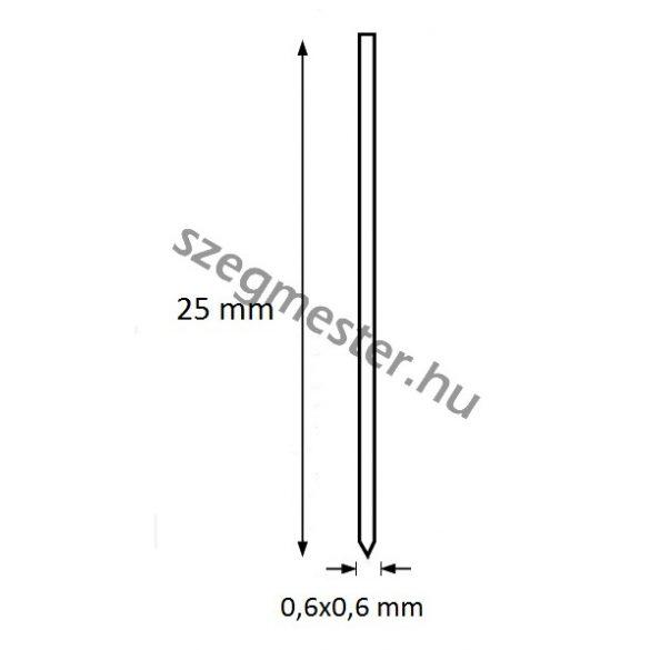 Mini-pin szeg 25mm OMER (20.000db)