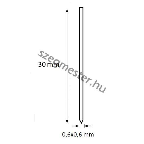 Mini-pin szeg 30mm OMER (20.000db)