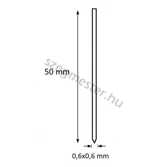 Mini-pin szeg 50mm OMER (10.000db)