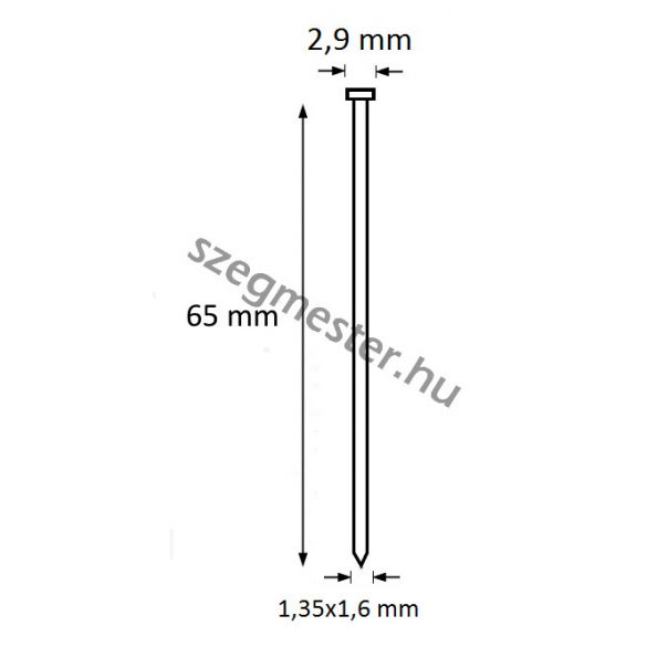 TIP szeg 65mm (4000db)