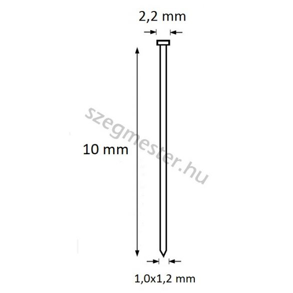 Ti-Pin szeg 10mm (25.000db)