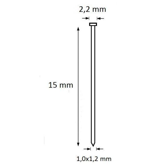 Ti-Pin szeg 15mm (5.000db)