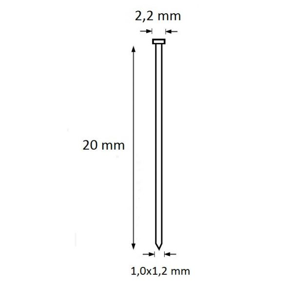 Ti-Pin szeg 20mm (5.000db)