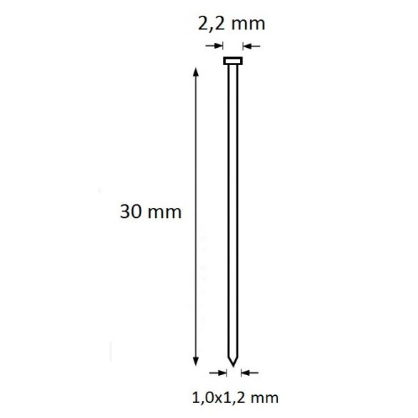 Ti-Pin szeg 30mm (5.000db)